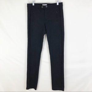 Vince Skinny Ponte Knit Black Pants Sz 8